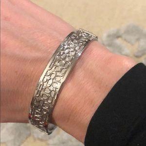 Coach Silver Bangle Bracelet